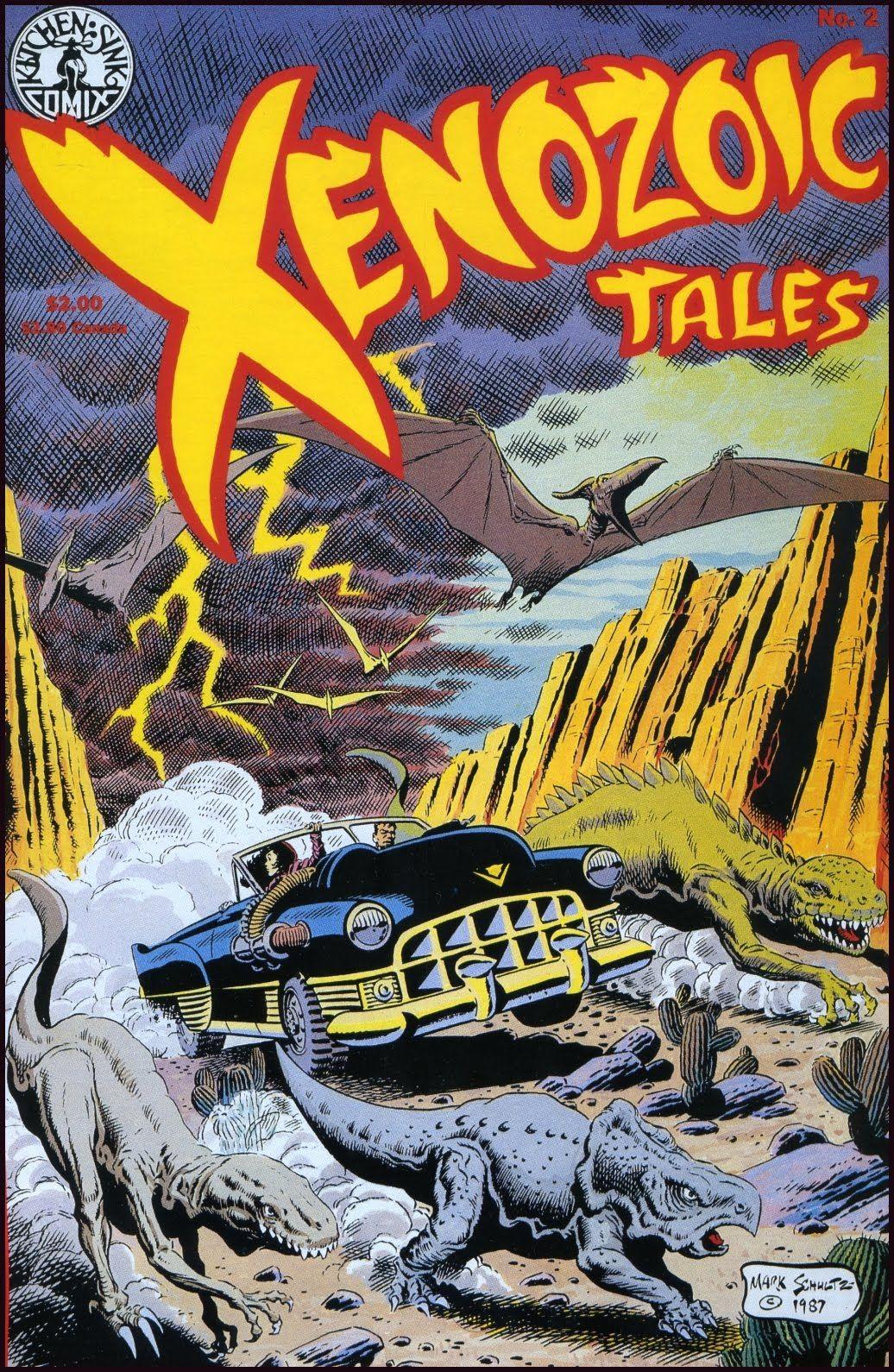 Xenozoic Tales 2 Cover Mark Schultz Comic books, Comic