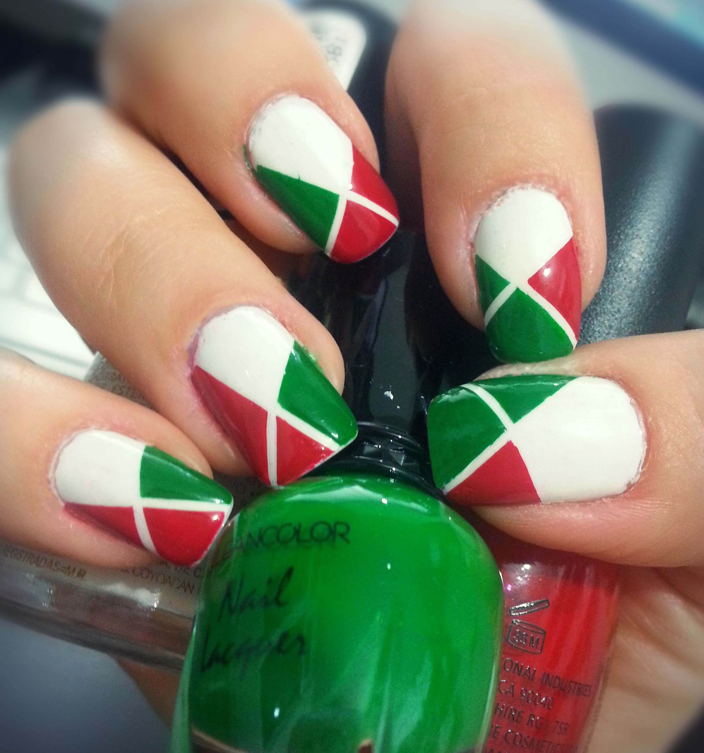 Mexican Independence Day nail art | Maquillaje | Pinterest | 15 de ...