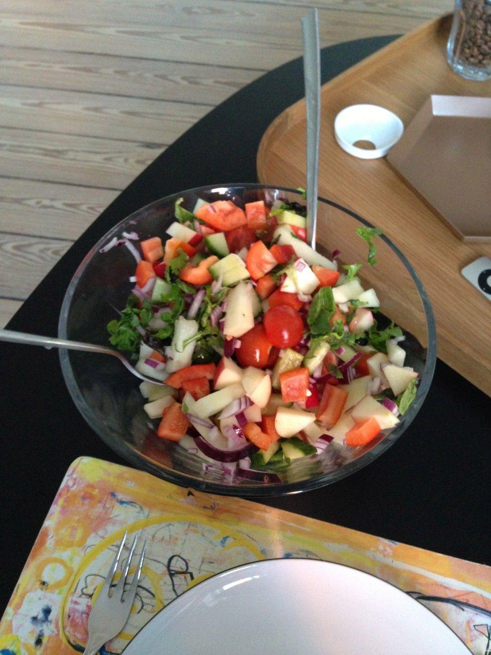 Sund Aftensmad Kylling Salat Opskrift Slankemad Sund Mad