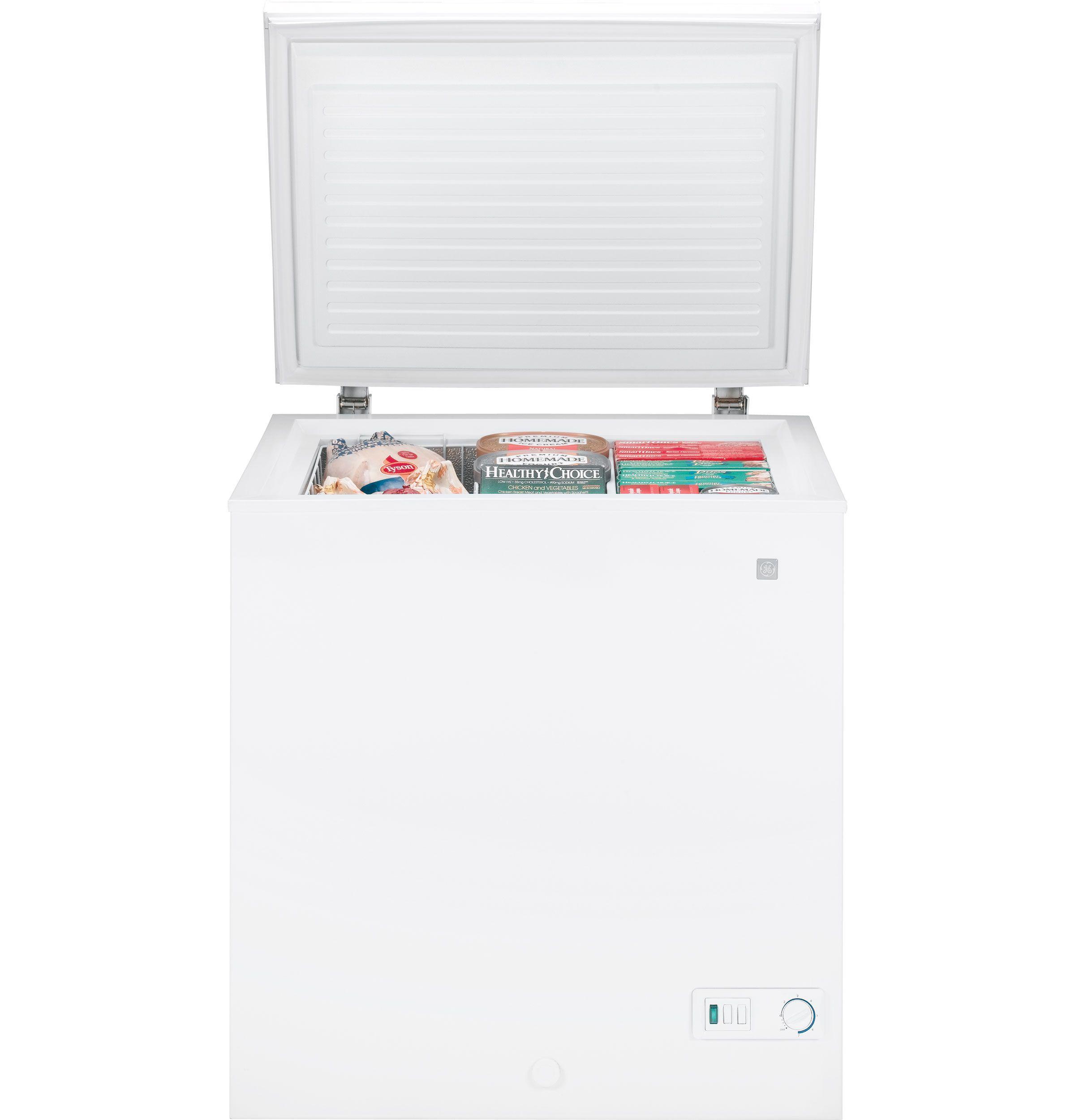 Fcm5suww Ge 5 0 Cu Ft Manual Defrost Chest Freezer Ge