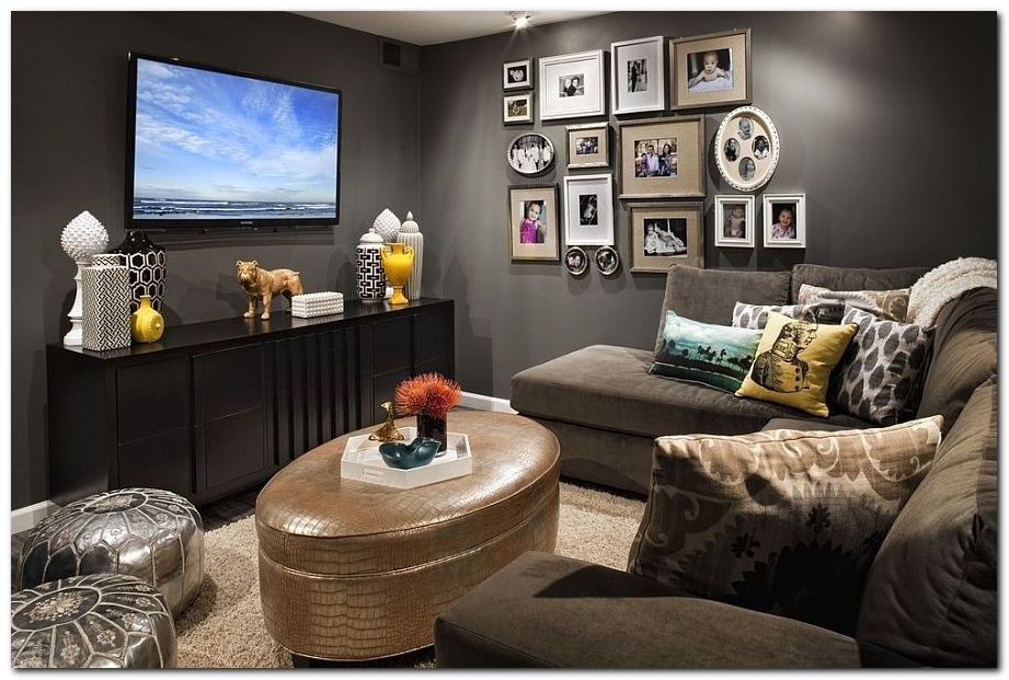 50 Cozy Tv Room Setup Inspirations Basement Tv Rooms