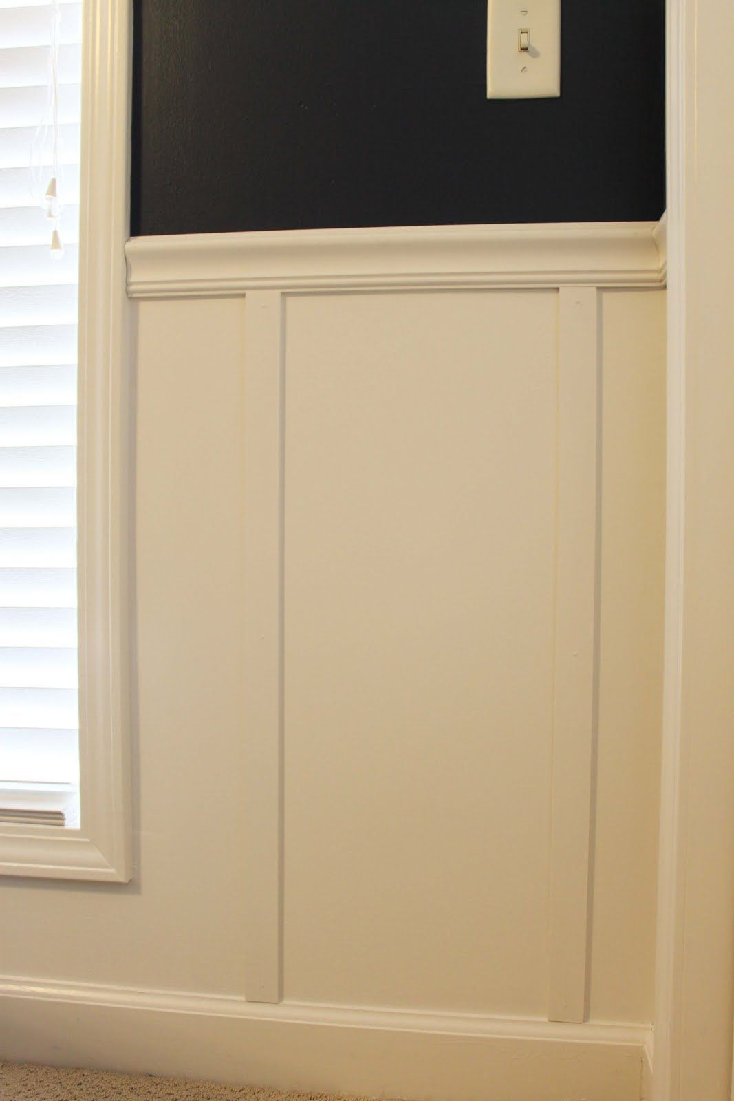 Chair Rail Cap Part - 46: Southern Revivals: DIY Board And Batten Using Chair Rail And Lattice  Moldings