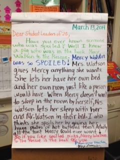 A Model Opinion Book Review Letter Create By Judy Gonzalez In Second Grade At Ardena Opinion Writing Second Grade Reading Ideas