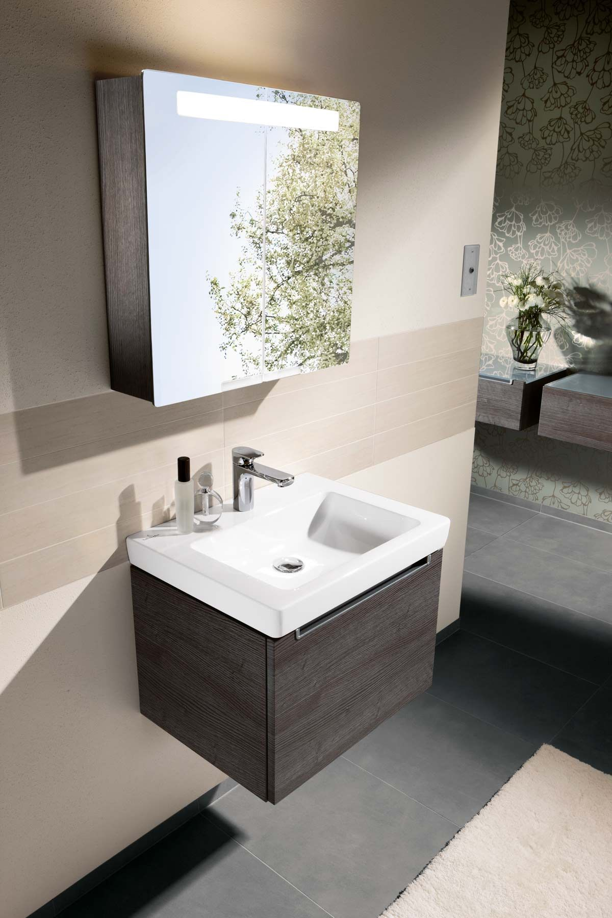 villeroy boch subway 20 furniture oak graphite - Villeroy And Boch Bathroom Cabinets