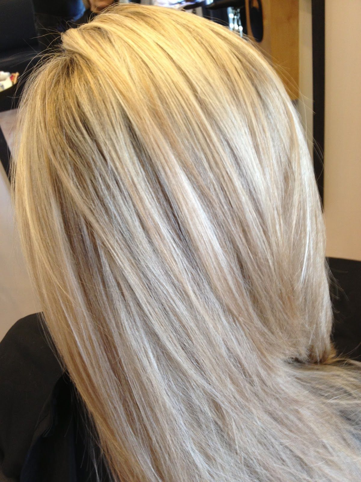 All Over Blonde With Blended Mocha Brown Lowlights