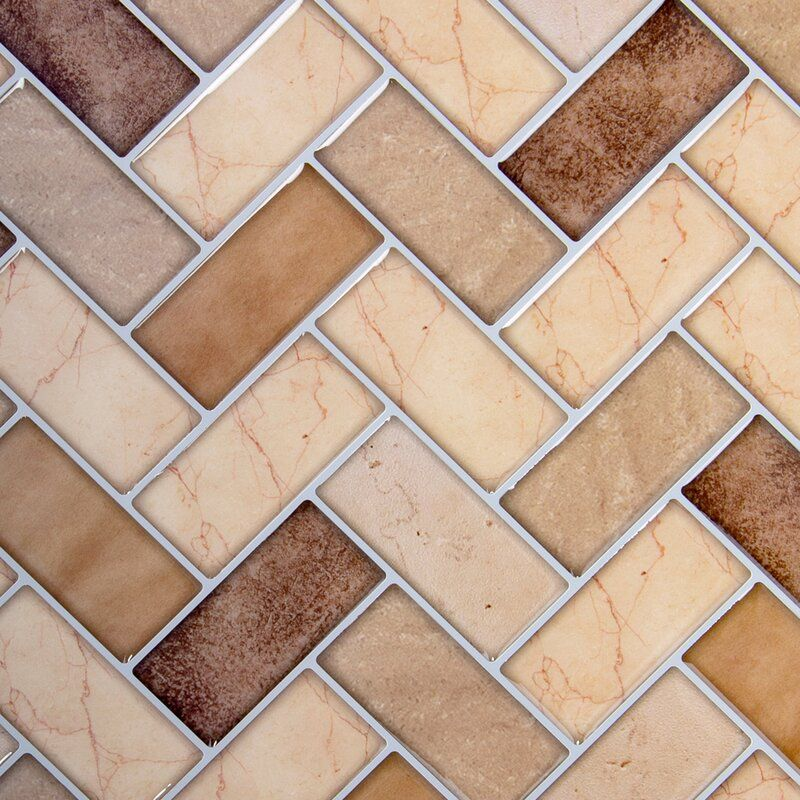 10 X 10 Pvc Peel Stick Mosaic Tile Herringbone Wall Tile Herringbone Wall Wall Tiles