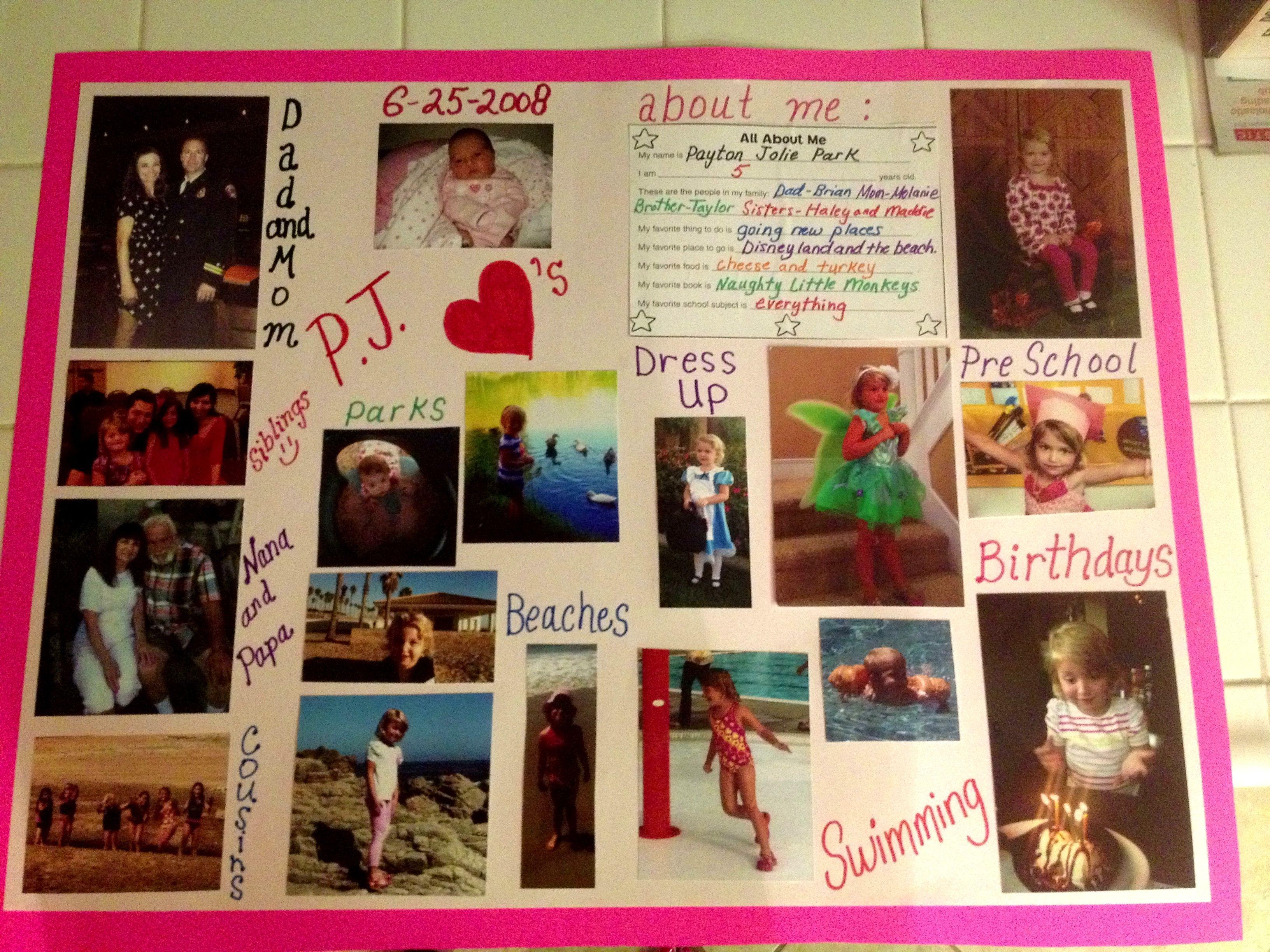 87b94b7289cff5c6ba2b99c73a74ab6a - All About Me Poster Kindergarten