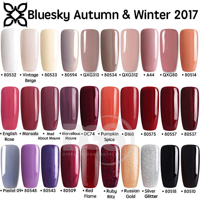 Details about Bluesky AUTUMN WINTER Range 2 UV/LED Soak Off Gel Nail ...