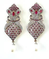 Diamond jewellery earrings
