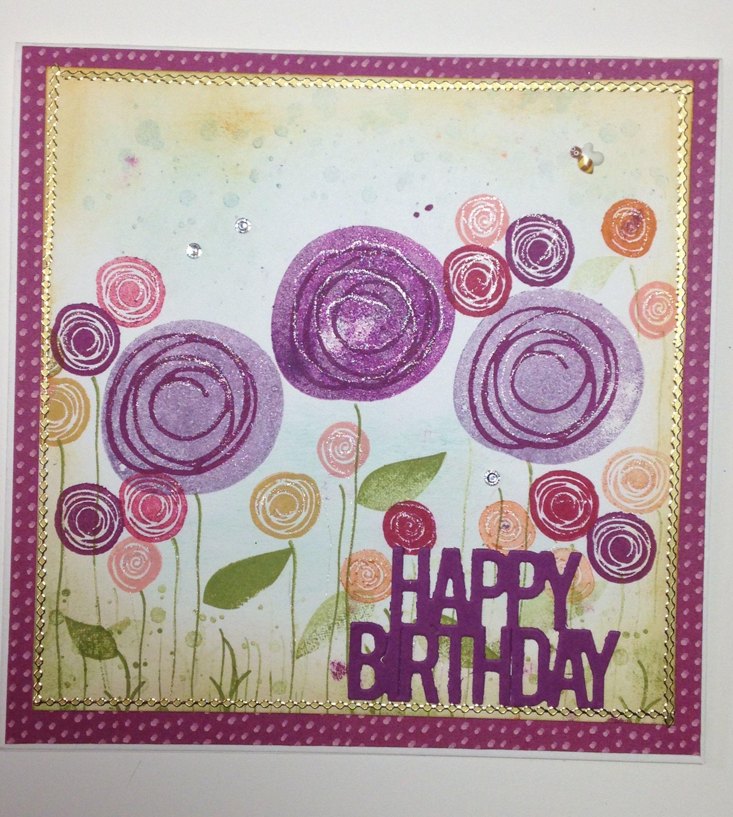 Stampin up swirly bird birthday card swirly birds pinterest