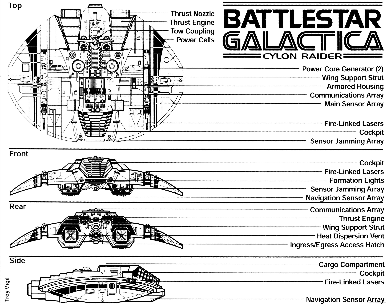 Battlestar Galactica Cylon Raider Wallpaper Spec Sheet HD Wallpaper