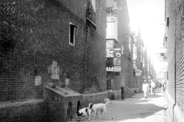 Ordinary life in Shanghai lane in 1940's by Lester Hajenina