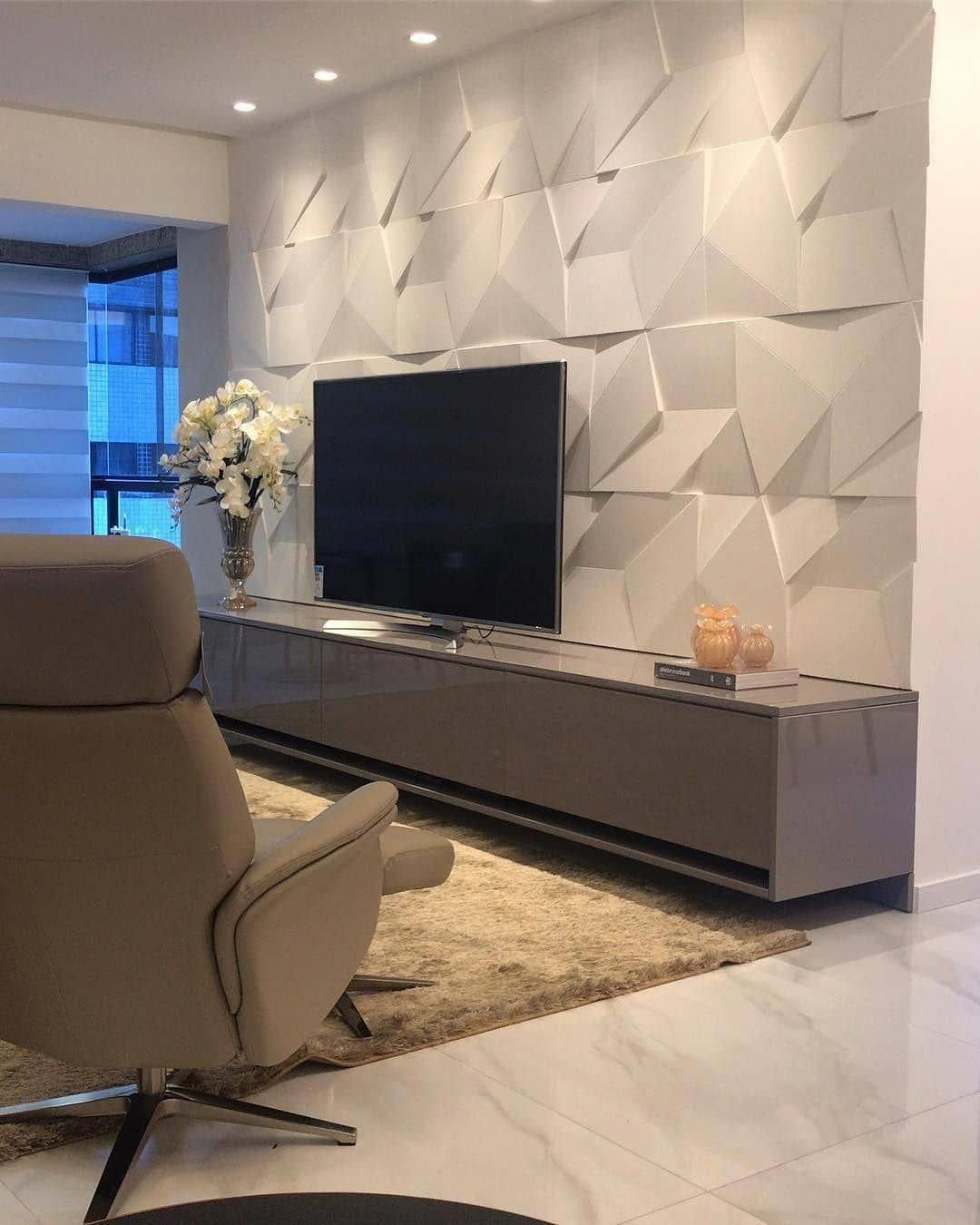 La Apartments Cheap: Que Home Theater Lindo Com Este Revestimento 3D, Né?! O