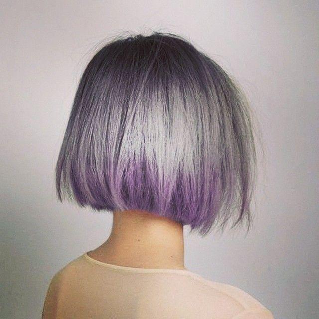 24 Little Reasons Brunette Girls Shouldn T Dye Their Hair Hair Styles Purple Hair Short Hair Styles