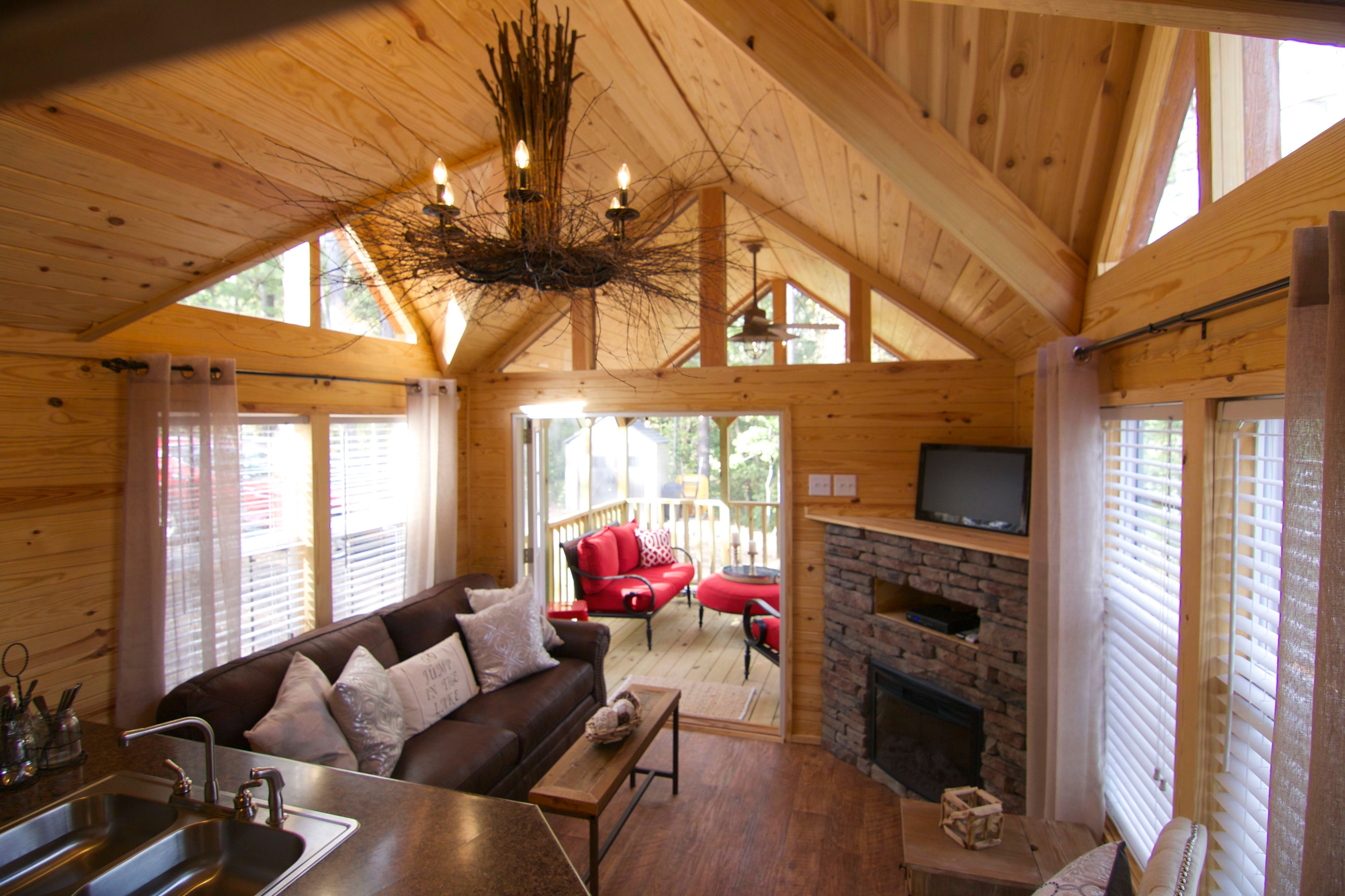 a park model cabin builtrustic river park homes in hamilton