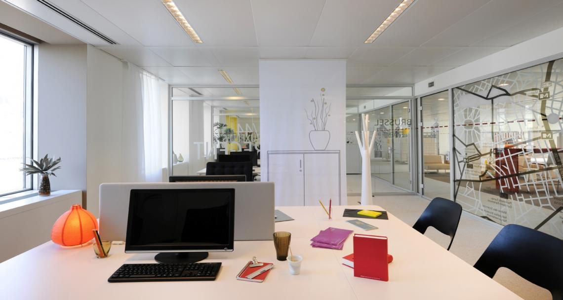 Open space into the premises of Deka in Brussel, Belgium