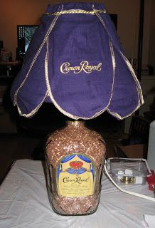 Crown Royal Lamp Alcohol Container Recycling Awesome