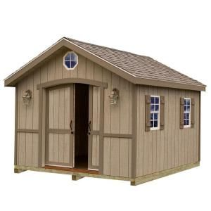 Best barns cambridge 10 ft x 16 ft wood storage shed kit for Garden shed 4x4