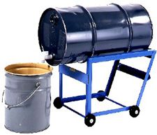 Drum Cradle Truck 15 Gal This Drum Cradle Truck Is Specifically Designed To Handle A 15 Gallon 57 Liter Dru Plastic Drums Drums Material Handling Equipment