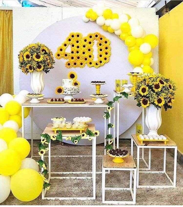 Sunflower birthday parties by Amairani Delacruz on ...
