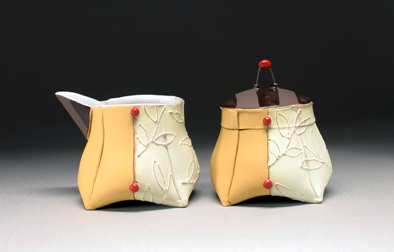 altered creamer & sugar | Personal Pots through Soft Slabs with Liz Zlot Summerfield