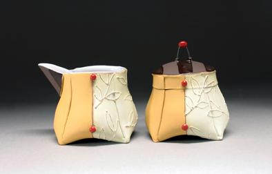 altered creamer & sugar | Personal Pots through Soft Slabs with Liz Zlot Summerfield