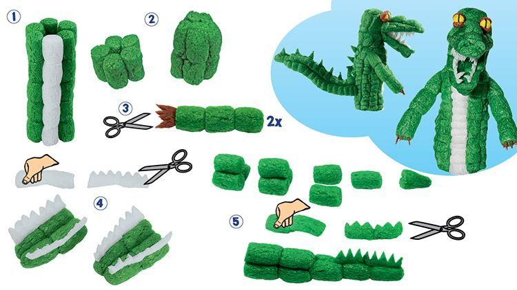 Fischertip Modellanleitung Krokodil Playmais Playmais Basteln Anleitungen Spiel Und Spass