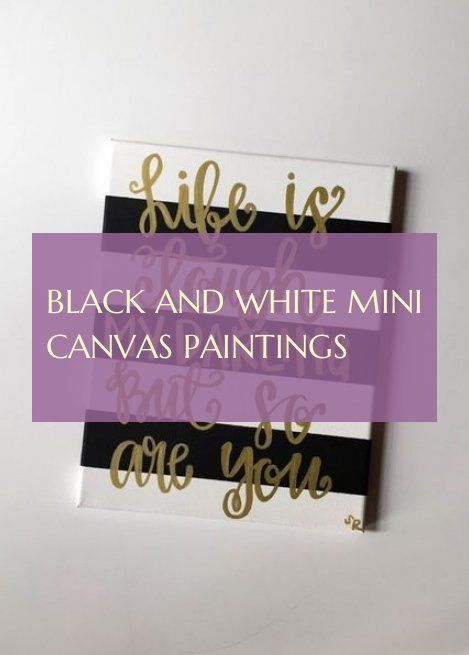 Black And White mini canvas paintings