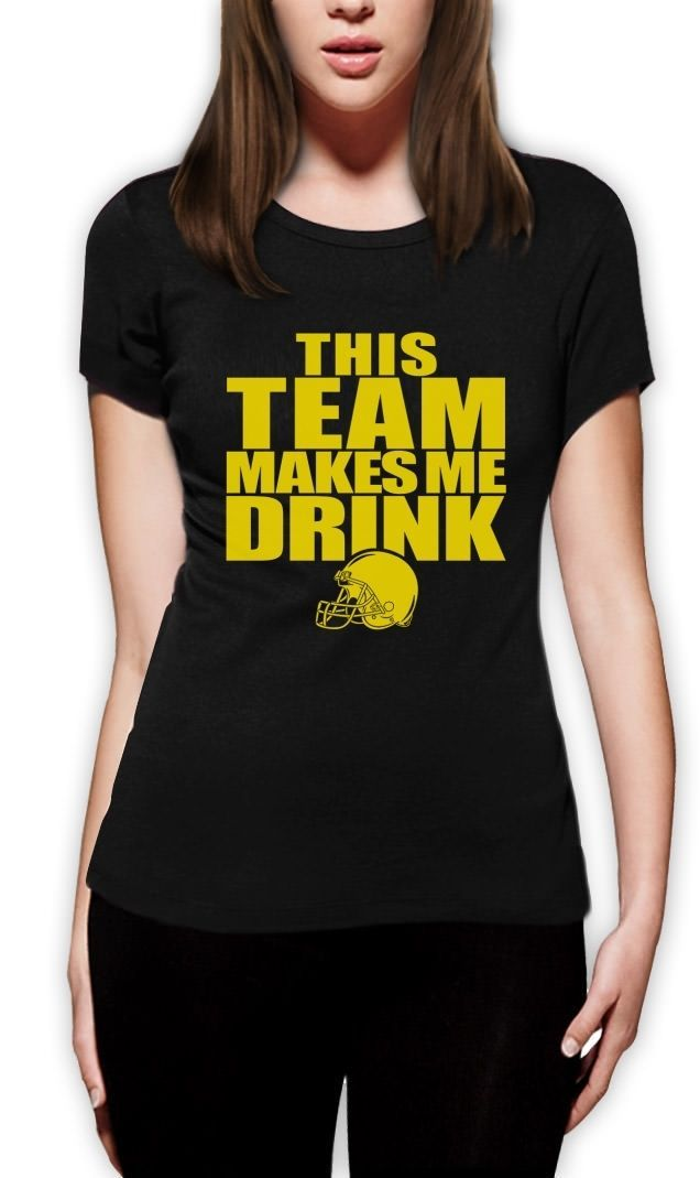 >> Click to Buy << This Team Makes Me Drink Yellow Women T-Shirt Funny Footballer Quote Minnesota Fan #Affiliate