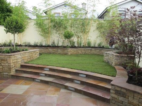 Split level garden design landscaping project backyard for Split level garden designs
