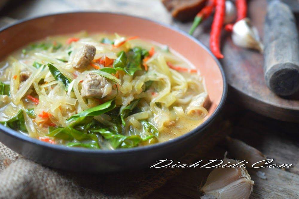 Lodeh Pepaya Bumbu Iris Resep Makanan Resep Masakan Indonesia Makanan