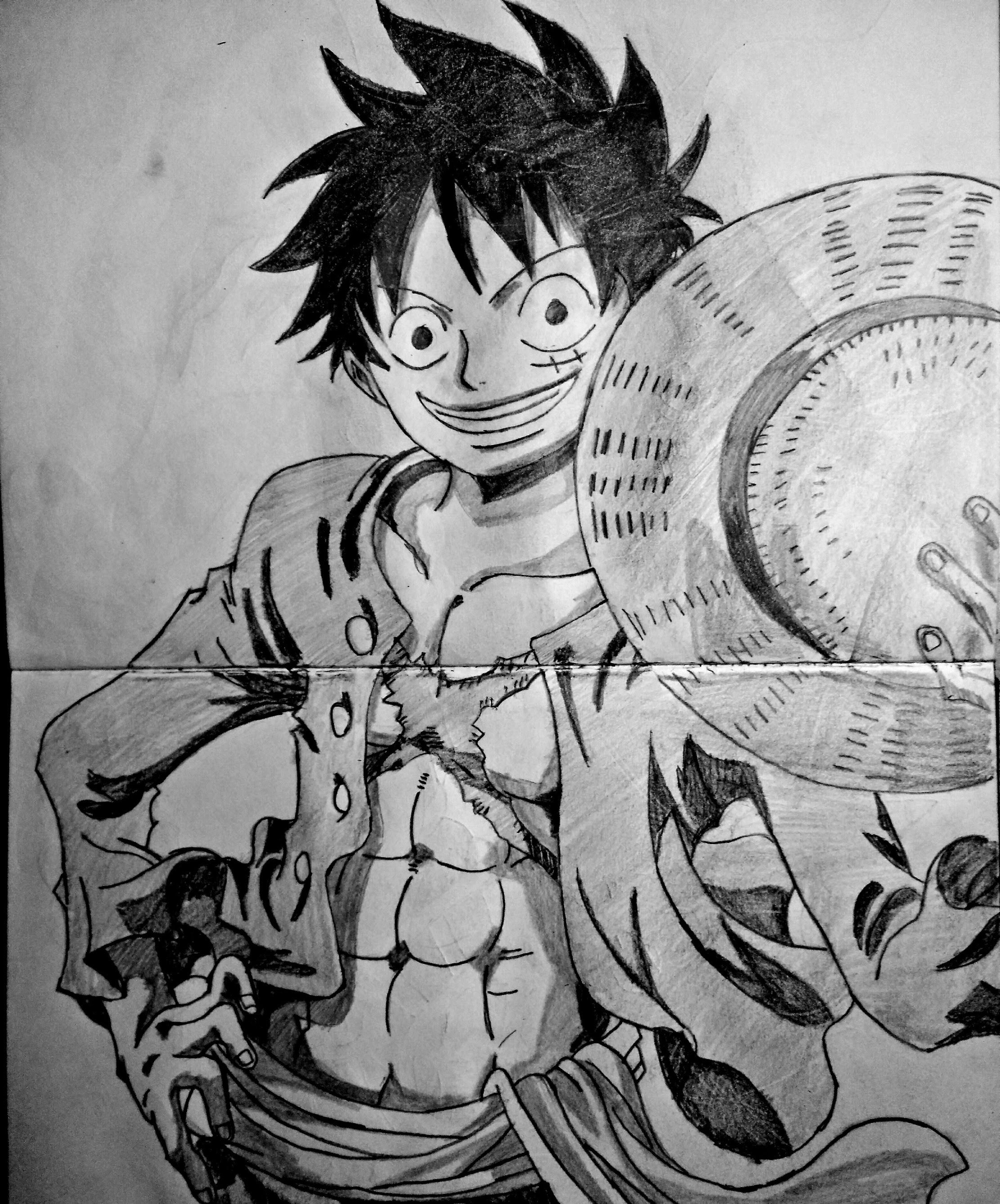 Speed drawing anime Monkey D. Luffy (One Piece)
