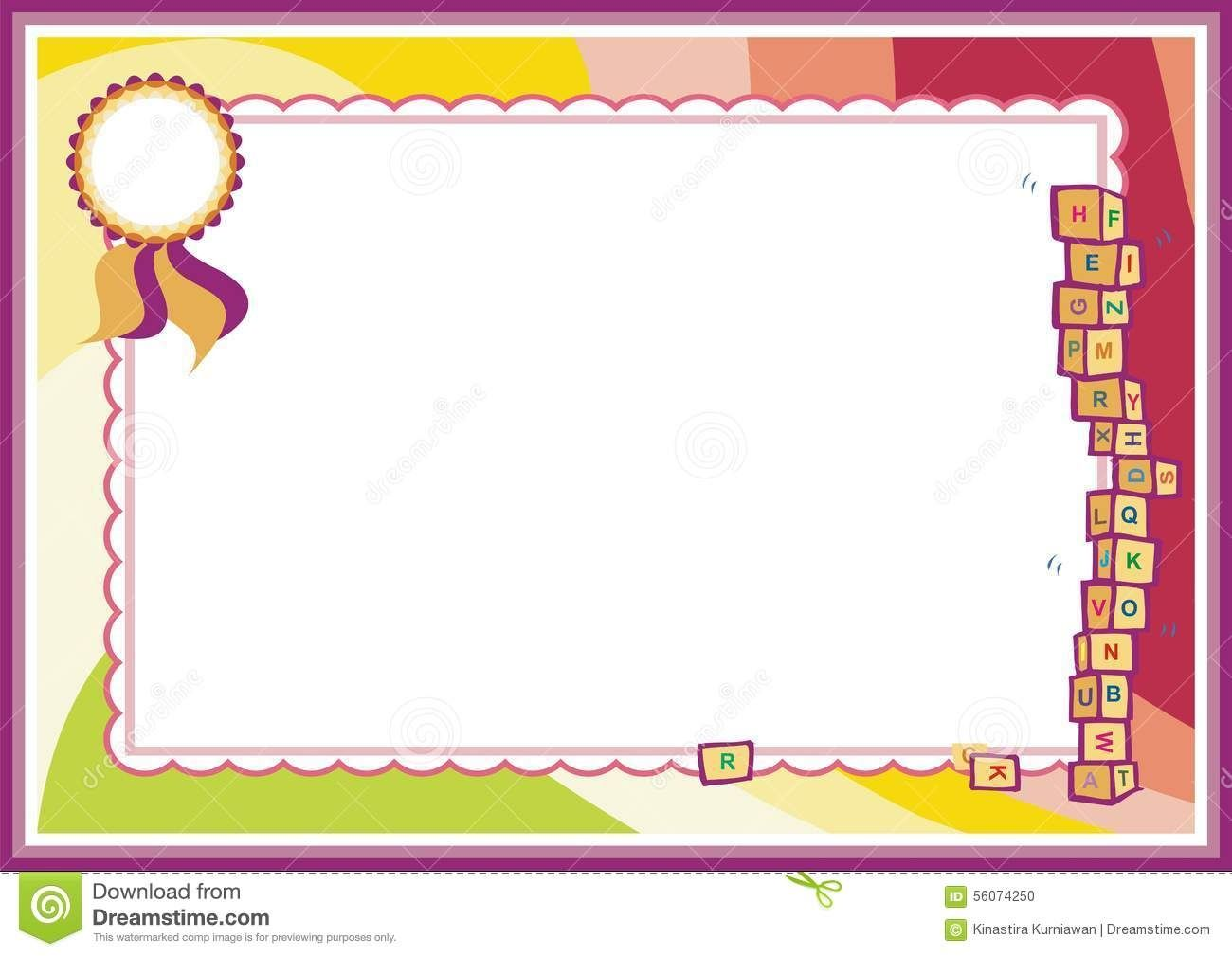 Certificate background. Sample designs of borders
