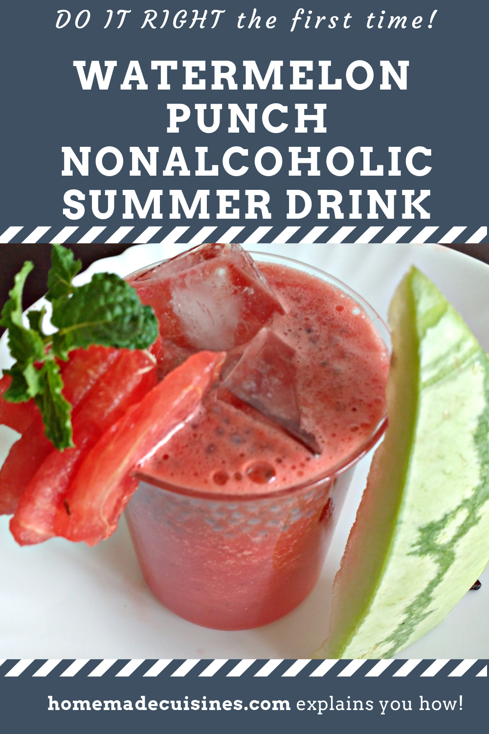 Watermelon Punch for kids #nonalcoholicsummerdrinks