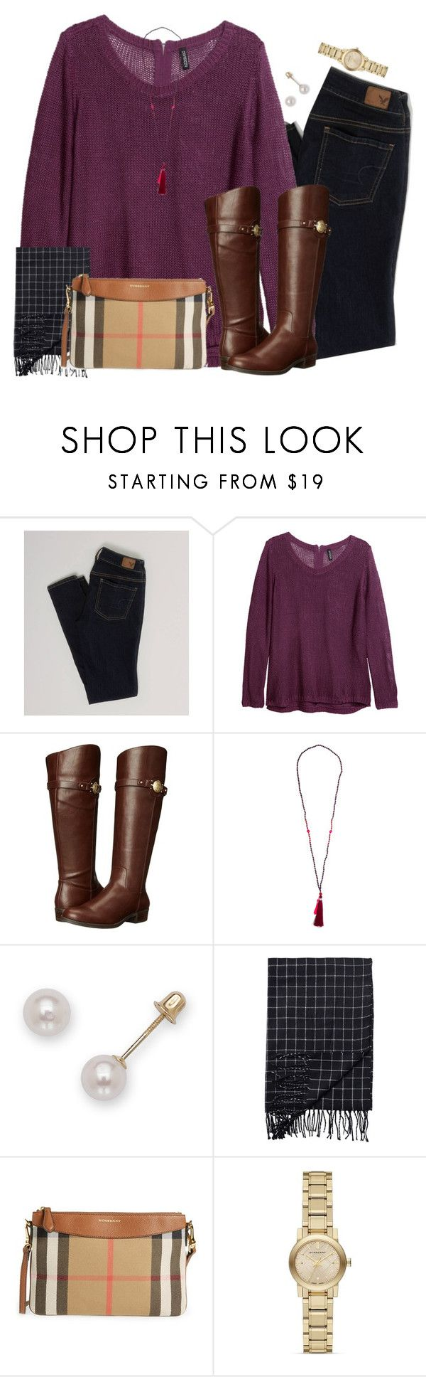 """Sorry for Only Posting Christmas Colors"" by southernstylish ❤ liked on Polyvore featuring American Eagle Outfitters, H&M, Tommy Hilfiger, Monki and Burberry"