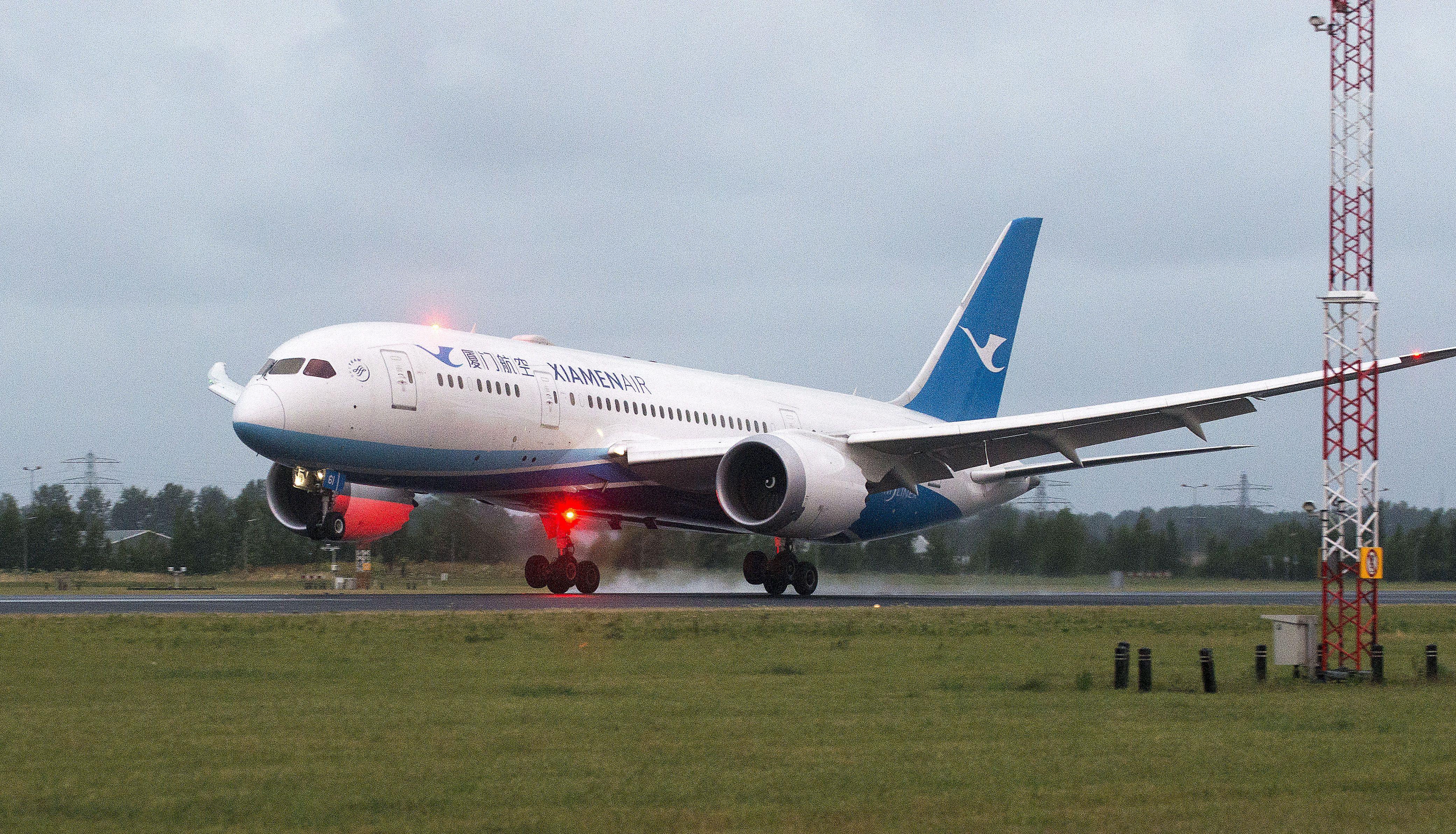 Xiamen Airlines first long haul flight arrives from Xiamen