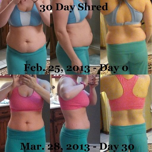 30 day shred without dieting results