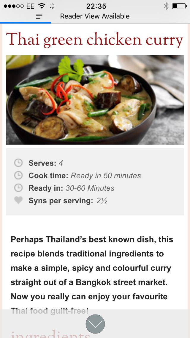 Thai Green Curry Slimming World Thai Green Chicken Curry