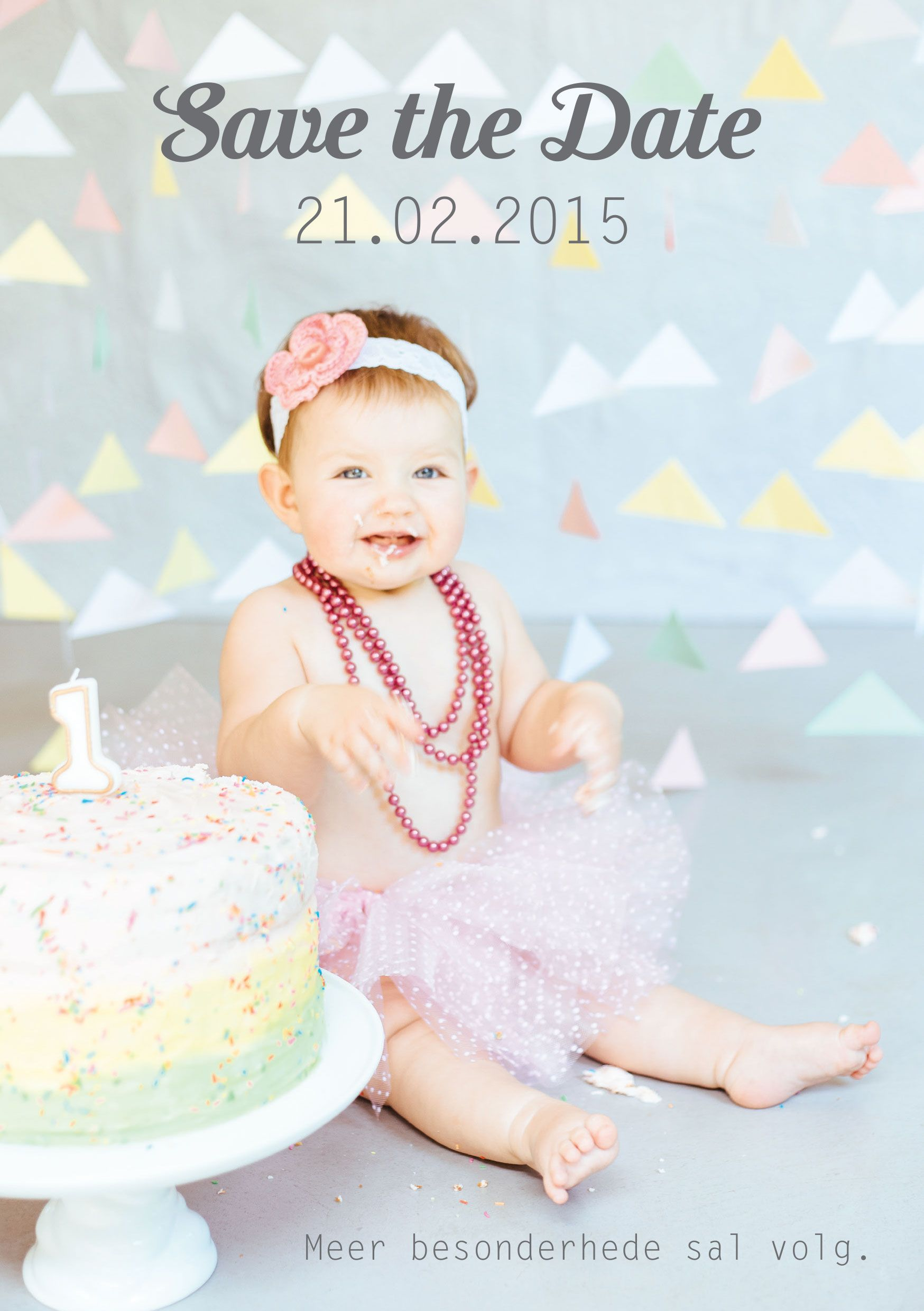 Neve S Save The Date To Her 1st Birthday Party 1st Birthday Girls 1st Birthday Parties Girl Birthday Save the date birthday template