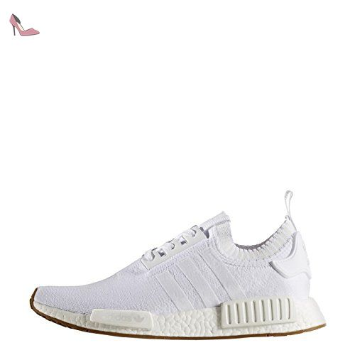 adidas originali nmd r1 pk primeknit, calzature bianche (white