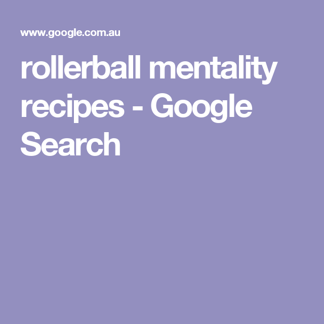 Rollerball Mentality Recipes Google Search Oils Pinterest