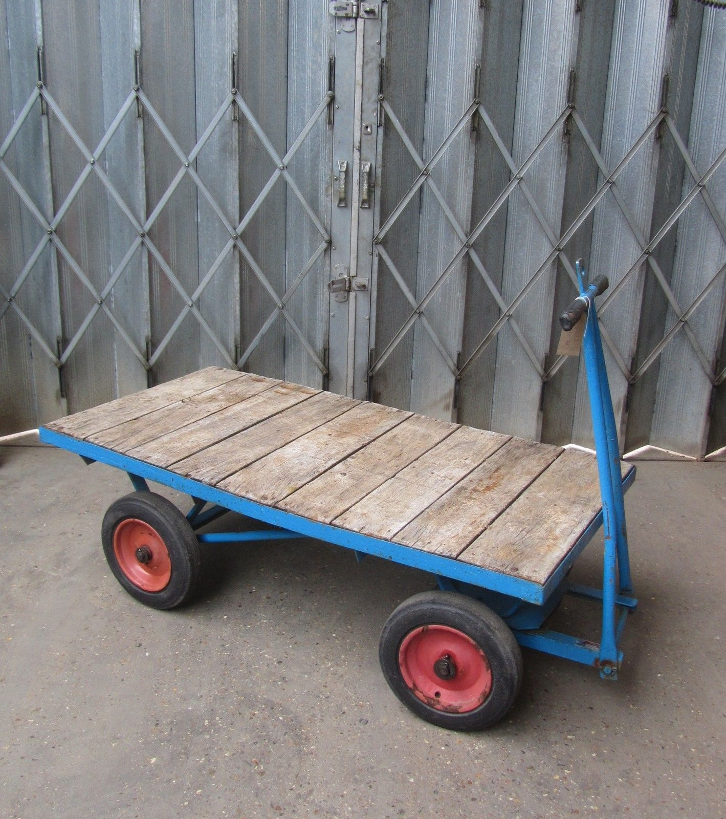Four Wheel Turntable Trolley Handcart Trailer Bogie 4 Wheel Platform