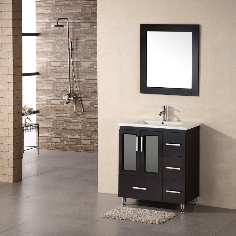 Single Bathroom Designs Design Element B30Ds Stanton 32Insingle Bathroom Vanity Set