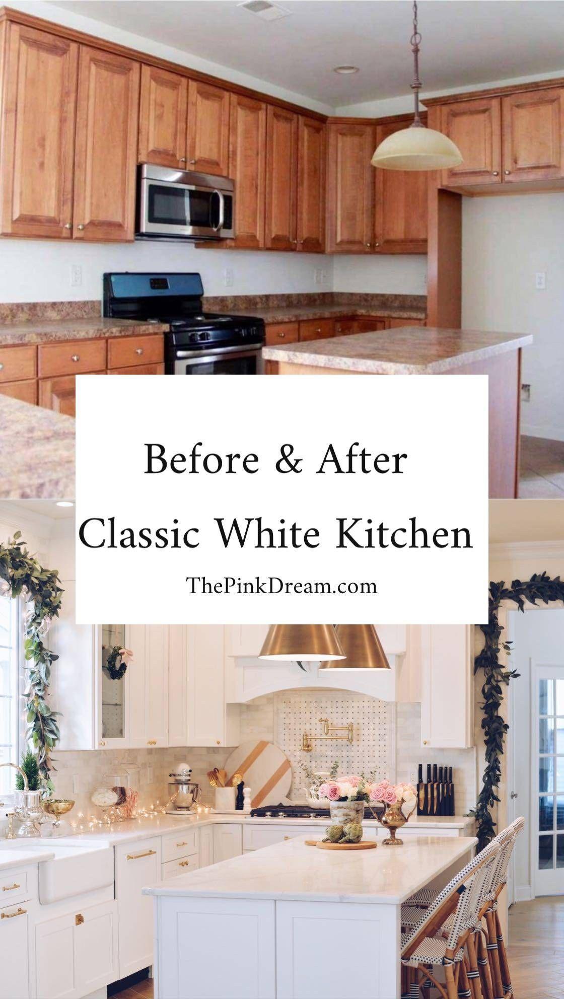 Diy Kitchen Renovation A Classic White Kitchen Remodel Kitchen Renovation Cost Classic White Kitchen Full Kitchen Remodel