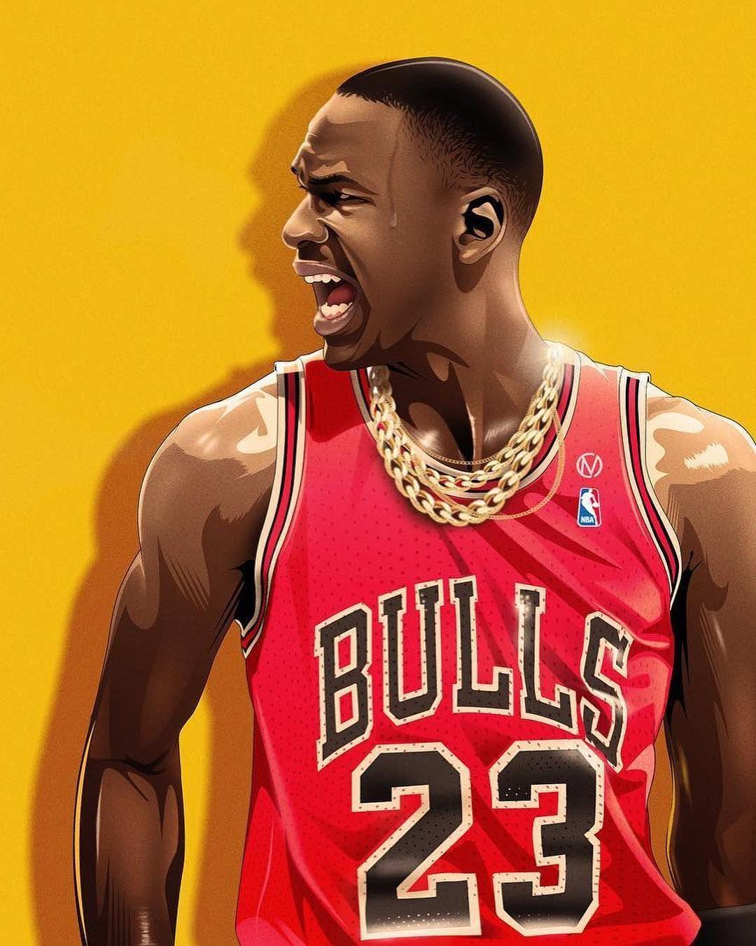 Image may contain 1 person Nba basketball art