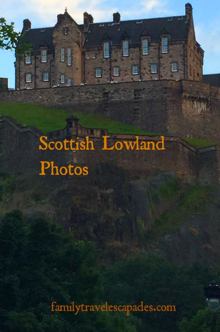 Edinburgh Castle atop the hill in Edinburgh, Scotland