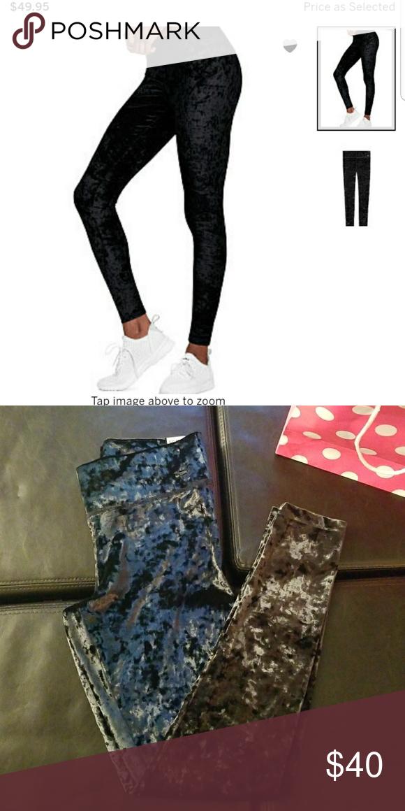 506ba6e7f0c74e Crushed velvet leggings Crushed velvet leggings Victoria's Secret Pants  Leggings