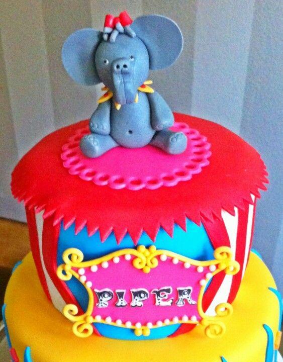 Too Sweeties Bake Shoppe... Circus cake topper.