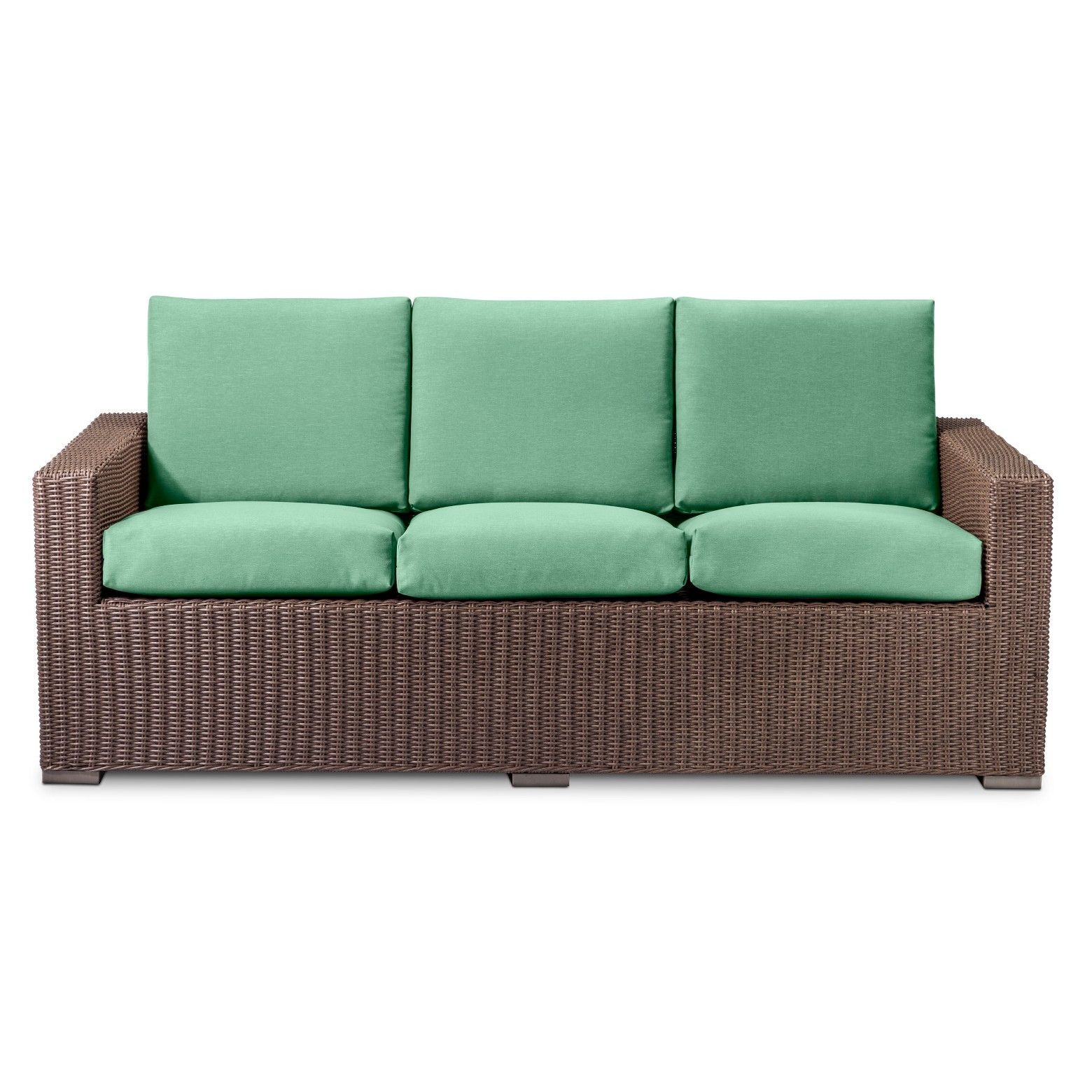 Simplistic and beautiful the Heatherstone All Weather Wicker Sofa