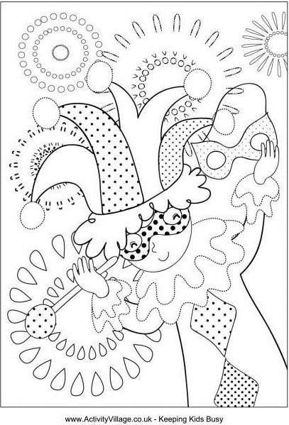 Mardi Gras Coloring Pages | Mardi Gras King Cake Baby Study Guide ...